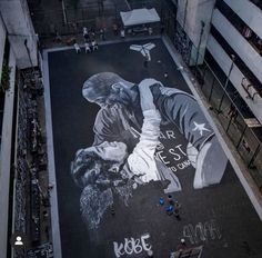 A giant mural featuring former NBA star Kobe Bryant and his daughter Gianna, painted after their death, is seen at a basketball court i. Basketball Art, Basketball Pictures, Basketball Boyfriend, Basketball Cookies, Basketball Videos, Basketball Workouts, Basketball Funny, Basketball Quotes, Jordan Basketball