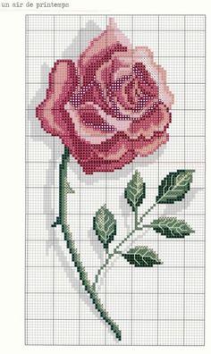 Cross-stitch rose