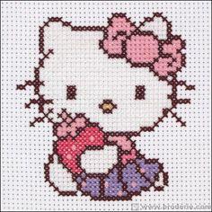 Broderie point de croix J M les gâteaux à la fraise-Hello Kitty Anchor AN.HKY0002 - La Maison du Canevas et de la Broderie