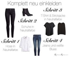 Completely new clothes? So you renew your wardrobe - Jana Welle - - Komplett neu einkleiden? So erneuerst du deine Garderobe You want to dress yourself completely new? Then it& time for a step by step guide to your new wardrobe! Capsule Wardrobe, Wardrobe Basics, New Wardrobe, Core Wardrobe, Minimalist Wardrobe, Minimalist Fashion, World's Most Comfortable Shoes, Neue Outfits, Work Outfits
