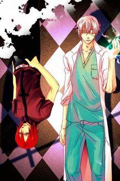 Soul Eater ~~ Those scrubs make me nervous, doctor. :: Stein and Spirit
