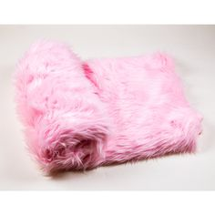108 X 60 Light Pink Faux Fur Shaggy Throw Blanket Bed Spread Coverlet... ($180) ❤ liked on Polyvore featuring home, bed & bath, bedding, blankets, grey, home & living, faux fur throw, gray faux fur blanket, faux fur bedding and faux fur blanket throw