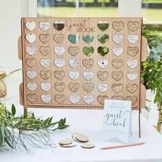 Wooden Wedding Guest Book // Alternative / Four in a Row / Wedding Messages/ Wedding Guest Message/Just Married / Newly Weds / Mr and Mrs Cute Wedding Ideas, Diy Wedding, Fall Wedding, Dream Wedding, Jenga Wedding, Rustic Boho Wedding, Natural Wedding Ideas, Whimsical Wedding Ideas, Unique Wedding Reception Ideas