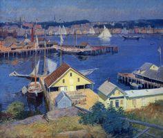 "Frank Duveneck  - ""The Yellow Pier Shed"",1910"