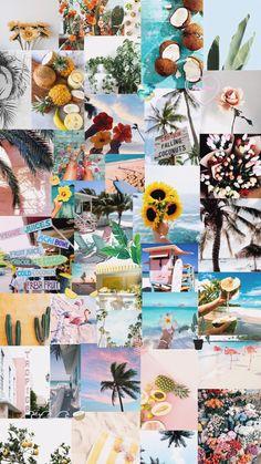 aesthetic collage summer tropical iphone pastel vsco wallpapers homescreen ammaarah pinloco themed lockscreen backgrounds yellow floyd coolcarsblog wallpaperaccess wallpapersafari cartoon