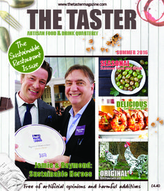 Celebrities (Jamie and Raymond!) on our cover! This issue focused on Sustainable Restaurants in the UK -- Raymond is President of the SR Association, and Jamie was picking up an award at the annual big bash. Whoo-hoo!