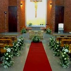 Church Wedding Decoration With Floral Art Theme