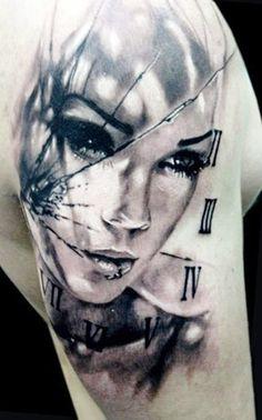 Tattoo Artist - Jak Connolly - face tattoo - www.worldtattoogallery.com