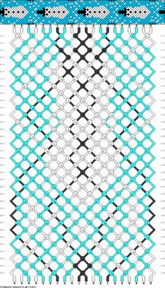 Snowman friendship bracelet pattern