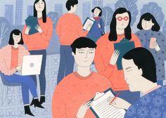 Social Innovation in East Asia Supplement: Korea by ybryksenkova Social Capital, Social Entrepreneurship, Gouache Painting, Freelance Illustrator, Everyday Objects, Citizen, Art Decor, Innovation, Korea