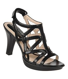 439a5f3c9d5 Naturalizer Dayna Cut Out Slingback High-Heel Sandals synthetic black