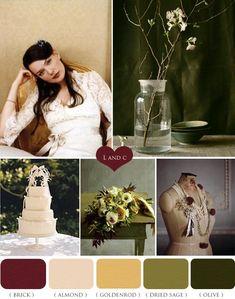 Paleta de Cores Vintage  #vintage, #wedding