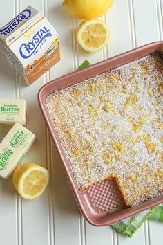 These homemade lemon bars are a delicious spring and summer dessert! Start with a shortbread crust and top with a sweet and tangy lemon filling. These lemony bars are so easy to make from scratch. Lemon Dessert Recipes, Pound Cake Recipes, Lemon Recipes, Sweet Recipes, Baking Recipes, Cookie Recipes, Bar Recipes, Summer Desserts, Recipes