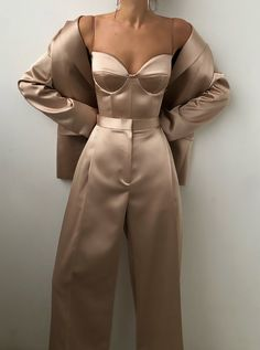 Nude Dress Outfits, Prom Outfits, Dressy Outfits, Chic Outfits, Suit Fashion, Fashion Dresses, Fashion Looks, Aesthetic Fashion, Aesthetic Clothes