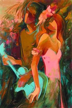 Love Song Artist Irene Sheri, Original Oil