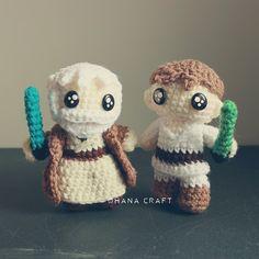 Obi Wan and Luke crochet doll https://www.facebook.com/OhanaCraft/