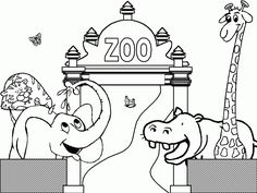 zoo coloring pages rsad coloring pages