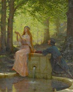 Pelleas and Melisande - Edmund Blair Leighton - The Athenaeum