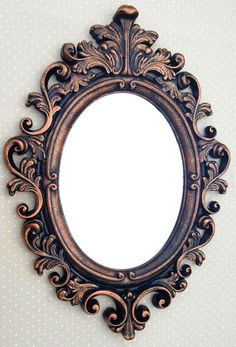 Decorative mirrors with resin frame and glass mirror. Frame already with .,Decorative mirrors with resin frame and glass mirror. Frame already with . - Frames are decorative acce. Vintage Photo Frames, Antique Picture Frames, Antique Frames, Diy Resin Crafts, Diy Arts And Crafts, Mirror Painting, Painting On Wood, Molduras Vintage, Shabby Chic Frames