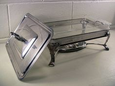 Vintage Silver Plate Chafing Dish Large Food Warmer – EclectiquesBoutique.com