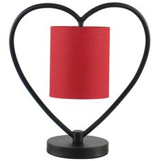 Heart Shaped Table Lamp with Red Shade, Restoration Bronze Mr Price Home, Bronze Finish, End Tables, Heart Shapes, Restoration, Shades, Mirror, House Styles, Walmart