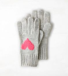 Intarsia Heart Gloves