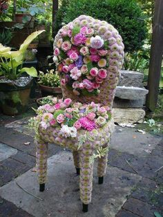 Mums the word - garden chair
