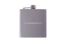 We are loving Give Studio's cheeky Wingman Flask. It is made from stainless steel and holds up to 6 oz.