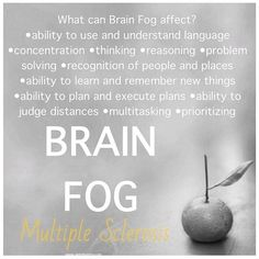 Brain fog.....and no, I'm not making that up! It's real and I live with it every day!