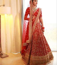 Gorgeous Designer Bridal Lehenga Choli by famous Indian Designer Sabyasachi Mukherjee Indian Bridal Outfits, Indian Bridal Fashion, Indian Bridal Wear, Indian Dresses, Bridal Dresses, Bride Indian, Indian Weddings, Wedding Lehnga, Designer Bridal Lehenga