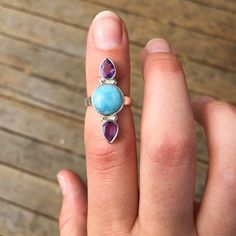 http://www.indieandharper.com/collections/ring/products/larimar-and-amethyst-ring