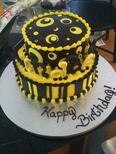 black and yellow cakes - Google Search