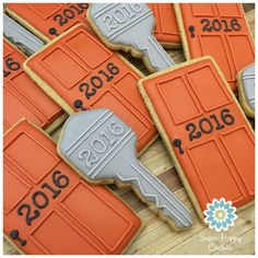 Sugar Cookies, front doors, keys, corporate meeting treats, house warming gift