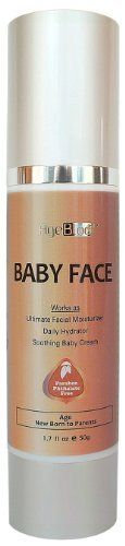 """Free Expedited Shipping AgeBloc """"BABY FACE"""" Works As Ultimate Facial Moisturizer, Daily Hydrator, Soothing Baby Face Cream. Use for New Born to Grown-up. Great Gift for Mom and Baby. Soothe Skin with Dry, Eczema or Sensitive Skin of All Ages. Paraben, Phthalate Free. Made with Luxurious Organic Ingredients. Protect Your Skin As Early As You Could. 1.7 fl 50ml by AgeBloc. Save 33 Off!. $32.00. Great Gift for New Mom and New Born Baby who need extra gentle skin care. Free Shipping on ..."""