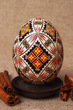 Ornamental Easter egg made and painted by by UniqueEasterEggs, $19.00