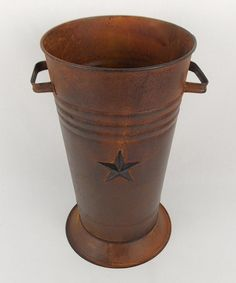 Take a look at this Large Rustic Star Flower Pot by Craft Outlet on #zulily today!