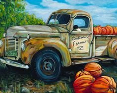 Pick Up Some Pumpkins  Original by ColoradoOriginalArt on Etsy, $475.00
