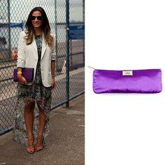 Add a pop of color to a look with a clutch in a bright shade of purple.    http://bobags.com.br/compra-de-bolsas/clutch-mini-cassette-violet-by-corto-moltedo.html #cortomoltedo #brechodebolsas #bobags #adorobobags