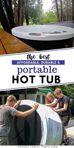 Updated 2021. An affordable, durable, portable hot tub? Review of the Swift Current Spa from Canadian Spa Company. An almost hard sided portable hot tub that meets our high criteria - including lower price! Super Spa, Canadian Spa, Portable Spa, Outdoor Projects, Diy Projects, Frugal Family, Best Insulation, Affordable Home Decor, Built In Storage
