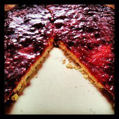 Rustic Jam Shortbread Tart