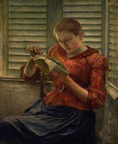 Woman reading, 1890 - Kuroda Seiki (1866-1924). Peintre japonais - Tokyo National Museum