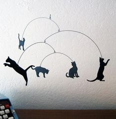 Here Kitty Kitty Mobile by SaltyandSweet on Etsy, $36.00