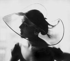Translucent Hat, 1950 - Lillian Bassman - Artists - Jackson Fine Art - Photography - Atlanta