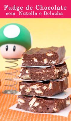 Barrinha Fudge de Chocolate com Nutella e Bolacha