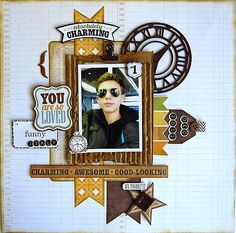 #scrapbook #layout #scrapbooking #boy #masculine                                                     Click here to download      ...