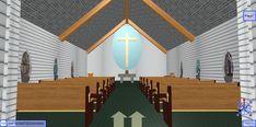 Inside the Old Church at Snow Island 3D Browsing at WalkTheWeb.com