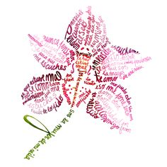 Flower typography. Flower Text, Flower Words, Flower Typography, Typography Art, Word Collage, Word Art, Typography Portrait, Poesia Visual, Knowledge Quotes