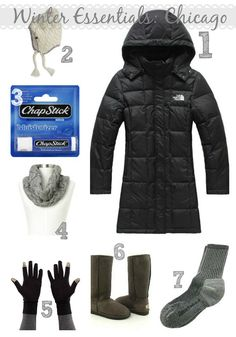 Winter Outfit Essentials, winter outerwear, chicago winter essentials, how to dress for a polar vortex, winter survival gear