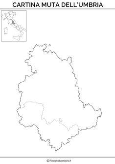 Cartina Muta Fisica E Politica Del Piemonte Da Stampare