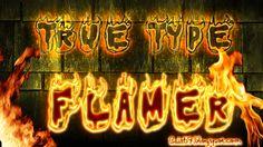 Fonte de Letras de Fogo - Flamer | Bait69blogspot
